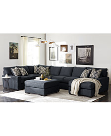 Tuni Fabric Sectional Sofa Collection, Created for Macy's