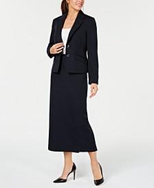 Two-Button Glazed Melange Skirt Suit