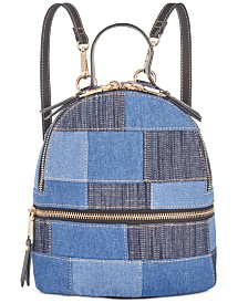 Steve Madden Kelce Denim Patch Mini Backpack