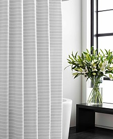 Vera Wang Textured Stripe Shower Curtain