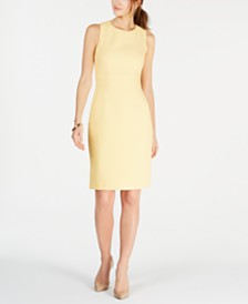 Kasper Petite Crew-Neck Sheath Dress