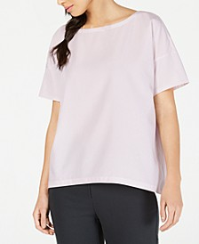 Tencel® and Recycled Polyester Boat-Neck Top