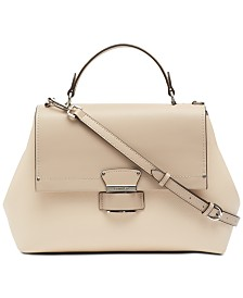 Calvin Klein Delancy Leather Satchel