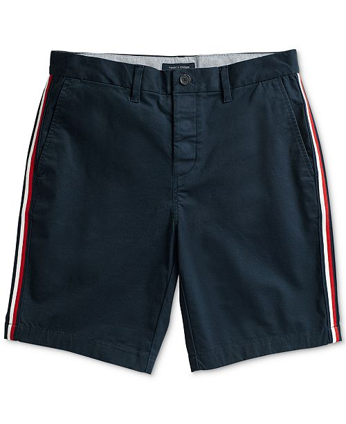 cc8a8674a0e Tommy Hilfiger Men's Side-Stripe Shorts with Magnetic Fly & Reviews ...