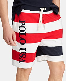 "Polo Ralph Lauren Men's Striped French Terry 8"" Americana Shorts"