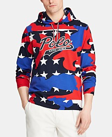 Polo Ralph Lauren Men's Hooded Graphic Americana T-Shirt, Created for Macy's