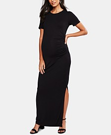 Luxe Ruched Maternity Maxi Dress