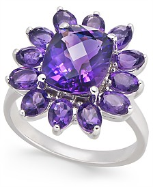 Amethyst Flower Statement Ring (4-1/2 ct. t.w.) in Sterling Silver