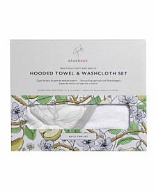 Storksak Hooded Towel & Wash Cloth Set