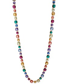 """Gold-Tone Rainbow 42"""" Long Necklace"""