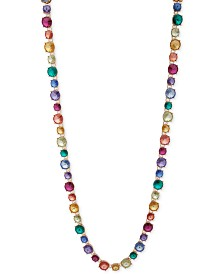 "Anne Klein Gold-Tone Rainbow 42"" Long Necklace"