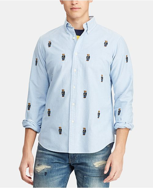 c7fcbe7c981c ... Polo Ralph Lauren Men s Big   Tall Classic-Fit Bear Oxford Shirt ...