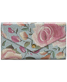 Patricia Nash Aprilia Crackled Rose Garden Wallet