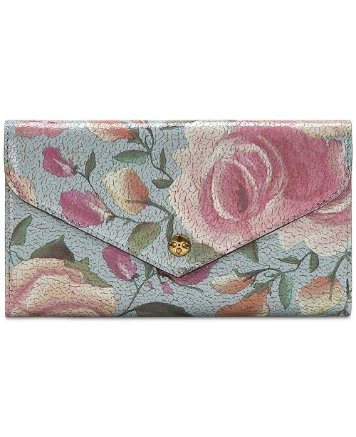 Patricia Nash Aprilia Crackled Rose Garden Wallet