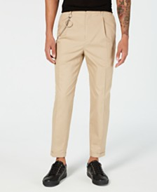 I.N.C. Men's Oversized Tapered Fit Pleated Chinos, Created for Macy's