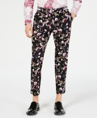 I.N.C. Men's Slim-Fit Floral Pants, Created for Macy's
