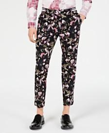 I.N.C. Men's Slim-Fit Floral Pants, Created for Macy's