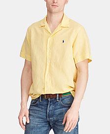 Polo Ralph Lauren Men's Classic Fit Linen Blend Camp Collar Shirt