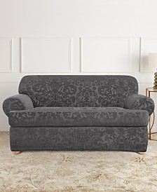 Sure Fit Stretch Jacquard Damask Slip Cover Collection