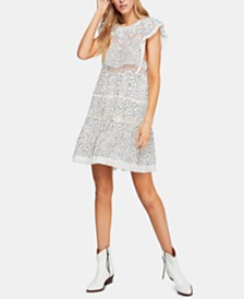 Free People Retro Kitty Crochet-Trim Dress