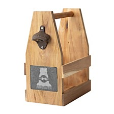 Cathy's Concepts Groomsman Acacia Slate Beer Carrier with Magnet and Bottle Opener