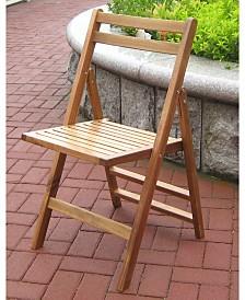 Acacia Folding 4 Dining Chair set