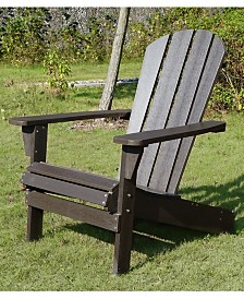 Faux Wood Relaxed Adirondack Chair