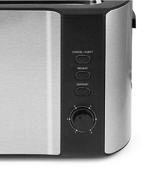 Elite Platinum Stainless Steel 4 Slice Long Slot Toaster