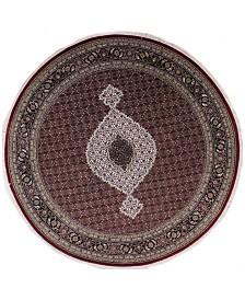 "BB Rugs Fine Indo Tabriz 628701 Red/Black 8'3"" Round Area Rug"