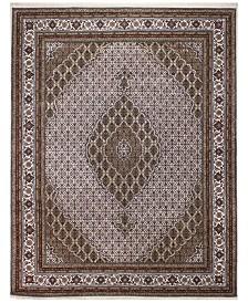 "BB Rugs Fine Indo Tabriz 628676 Ivory 7'10"" x 10' Area Rug"