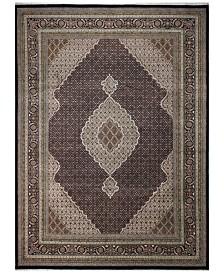 "BB Rugs Fine Indo Tabriz 628668 Black 8'10"" x 12'2"" Area Rug"