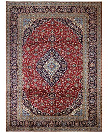 "Kashan 617046 Red 9'10"" x 13'3"" Area Rug"