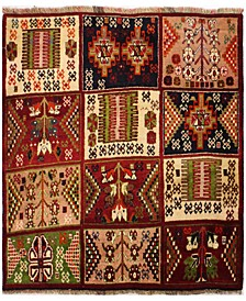 "Kashkayi 627954 Multicolor 3'11"" x 4'5"" Area Rug"