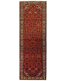 "Hamadan 621562 Red 3'3"" x 9'10"" Runner Area Rug"
