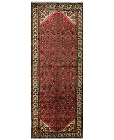 "Hamadan 621498 Red 3'9"" x 10' Runner Area Rug"