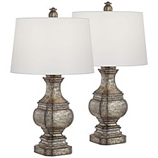 Antiqued Poly Table Lamps - Set of 2