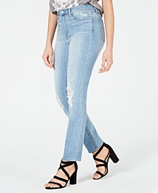 Rene Ripped High-Rise Jeans