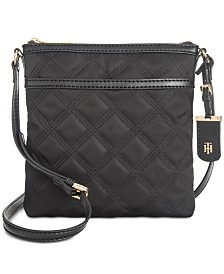 54010ea5e7 Tommy Hilfiger Julia Triple Quilted Nylon Crossbody