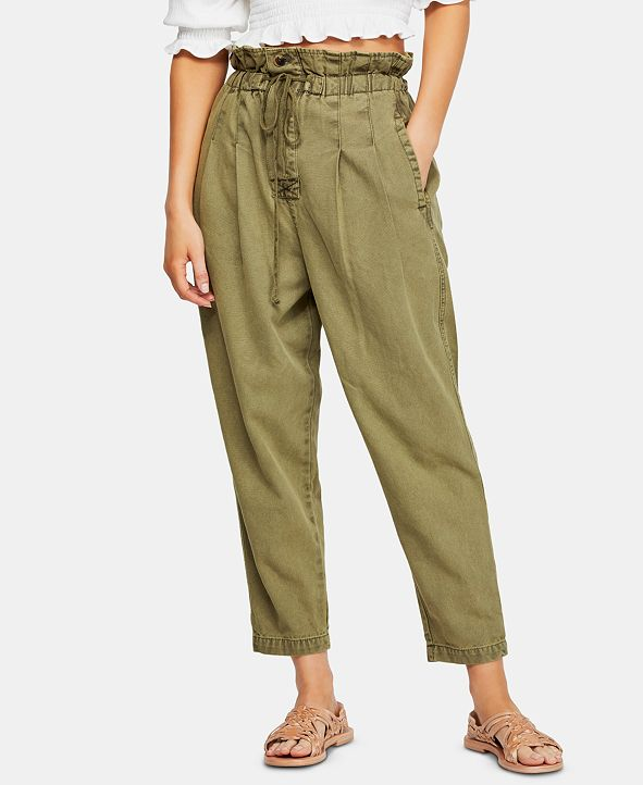 Free People Margate Pleated Pull-On Trouser Pants