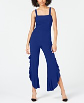 c9fb42a654 I.N.C. Petite Sleeveless Wide-Leg Party Jumpsuit