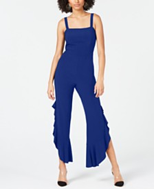 I.N.C. Petite Sleeveless Wide-Leg Party Jumpsuit, Created for Macy's