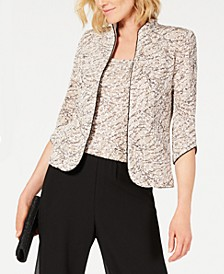 Printed Jacket and Top Set