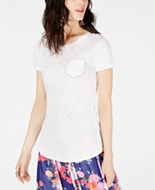I.N.C. Petite Cotton Embellished T-Shirt, Created for Macy's