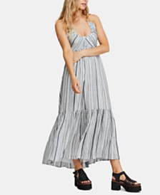 Free People Audrey Striped Halter Maxi Dress