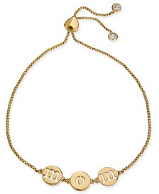 kate spade new york Gold-Tone MOM Slider Bracelet