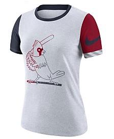 Nike Women's St. Louis Cardinals Slub Logo Crew T-Shirt