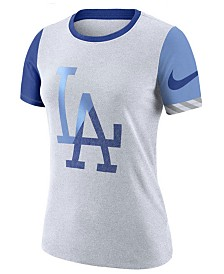 Nike Women's Los Angeles Dodgers Slub Logo Crew T-Shirt