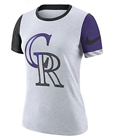 Nike Women's Colorado Rockies Slub Logo Crew T-Shirt