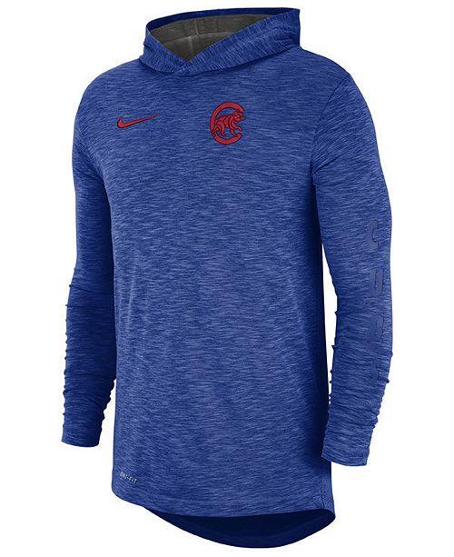 pretty nice f9817 ca5dd ... Nike Men s Chicago Cubs Dry Slub Hooded T-Shirt ...