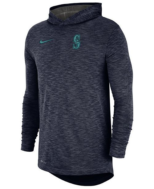 Nike Men's Seattle Mariners Dry Slub Hooded T-Shirt